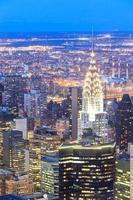 Flygfoto över New York skyskrapor foto