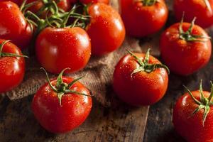 organiska röda mogna tomater foto