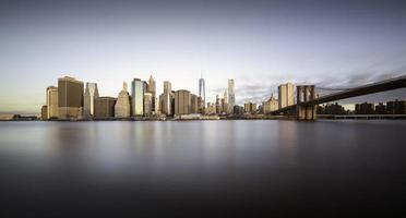 manhattan soluppgång, New York foto