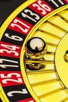 roulette-spel i kasino foto