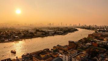 bangkok på morgonen foto