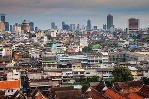 Flygfoto över Bangkok foto