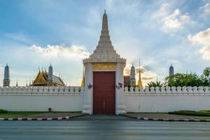 porten till det stora palatset, Thailand foto