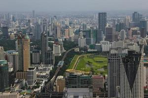 bangkok, Thailand utsikt över moderna bangkok med höjd foto