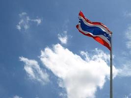 thailändska flaggan foto