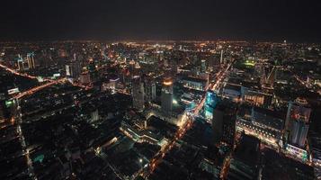bangkok om natten. foto