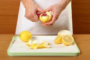 skalande citron foto