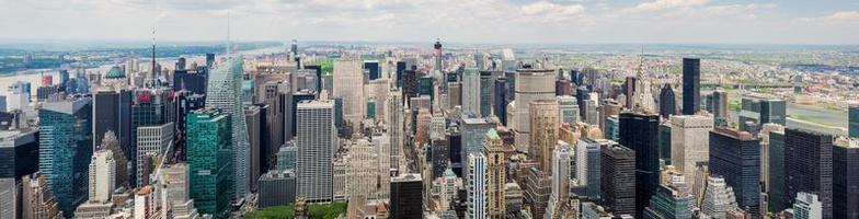 panorama över manhattan foto