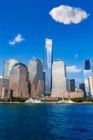 manhattan skyline new york sunshine oss foto