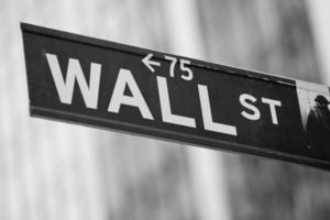 Wall Street i New York City foto