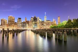 New York City Night Skyline foto