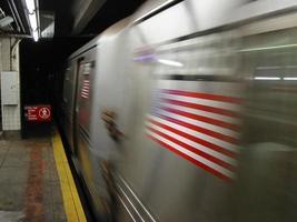 nyc tunnelbana foto