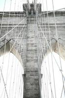 brooklyn bridge närbild 2 foto