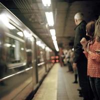 New York City tunnelbana foto