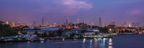 grand palace panorama i bangkok foto
