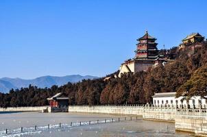 kunglig trädgård i Peking foto