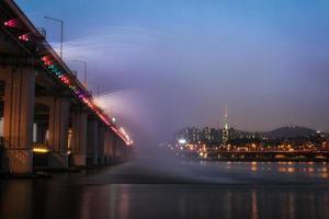 banpo bridge regnbågefontän foto