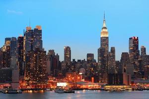 New York City kväll foto