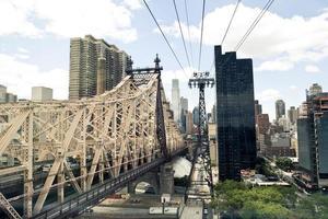 roosevelt ö-spårvagn i New York. foto
