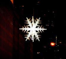 kristall snöflinga foto