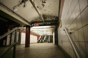 New York City tunnelbanestopp foto
