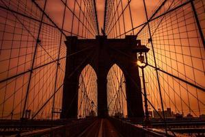 brooklyn bridge i new york foto