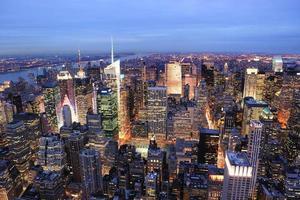 New York City manhattan gånger kvadratnatt foto