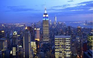 nyc skyline flygfoto foto