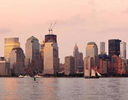 New York City manhattan centrum horisont foto