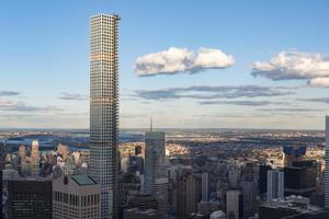 new york stadshorisont detaljer på eftermiddagen foto