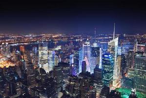 New York City Manhattan på natten foto