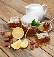 honung och citron foto
