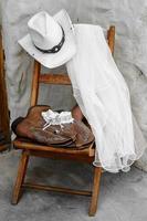 cowgirl bröllopstillbehör foto