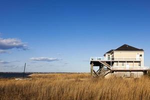 hus på stranden hamptons långa ö foto
