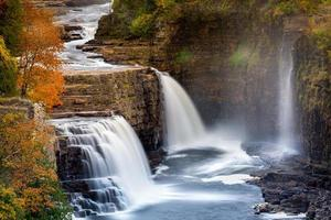 ausable chasm waterfal foto