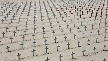 minnesmärke kyrkogården på santa monica stranden, Kalifornien foto