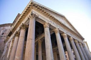 utsikt vid pantheon i Rom, Italien foto