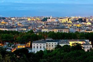 panorama över Rom foto