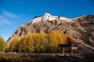 zongshan slott. tas i tibetens gyangtse (gyangze). foto