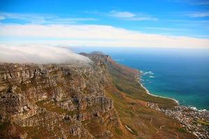 bordsduk på bordet berg, Cape Town, Sydafrika foto