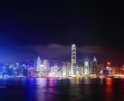Hong Kong på natten foto