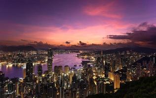 victoria hamn, Hong Kong, 2014 foto