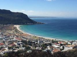 vackra Cape Town förort till Fish hoek foto