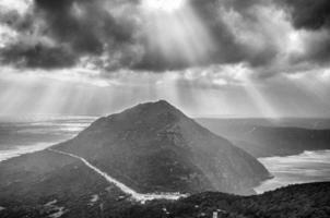 Sydafrika svartvitt: Kapstaden foto