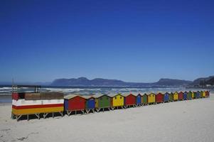 vacker muizenberg strand utanför Cape Town Sydafrika