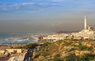 stormigt väder i norra Tel-Aviv, Israel foto