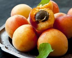 söta aprikoser foto