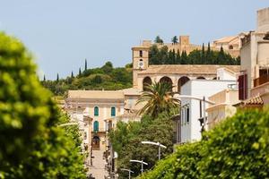 utsikt över sanctuary de san salvador i arta stad, Mallorca foto