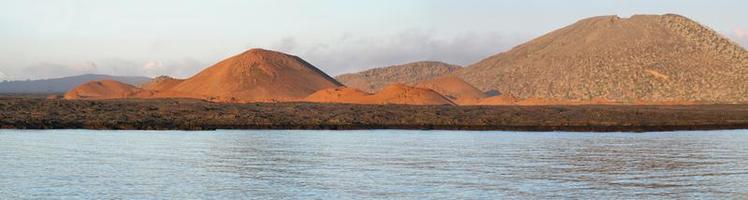 vulkaniskt landskap på ön santiago