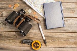resenärens utrustning foto